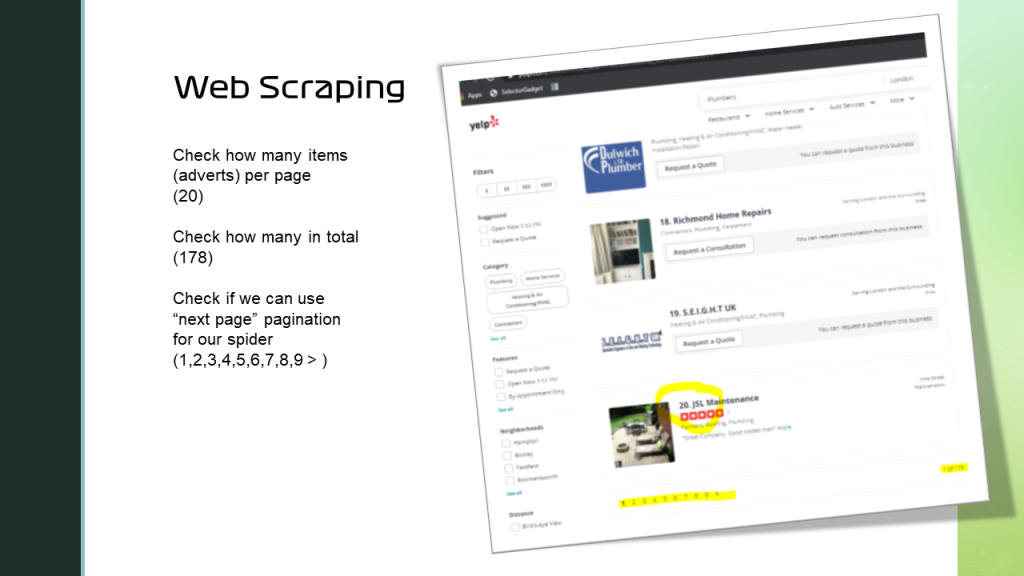 web-scraping unstructured data