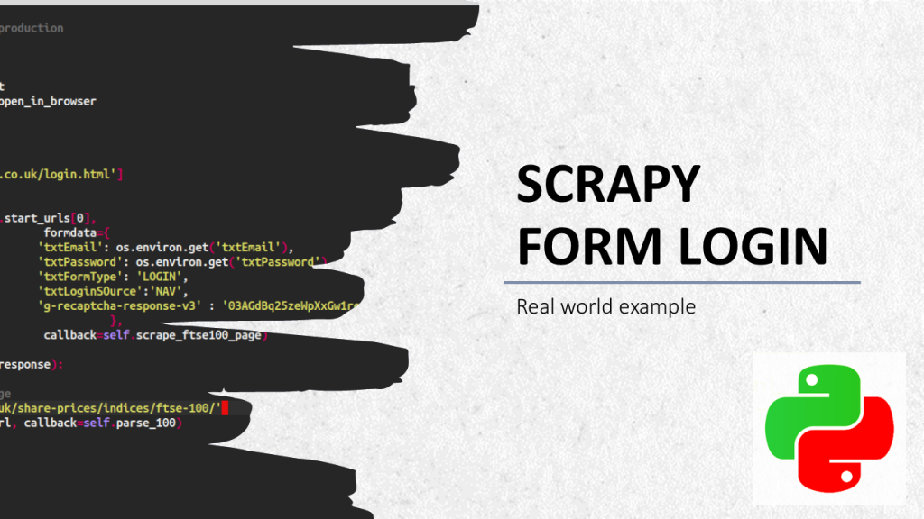 scrapy form login how to